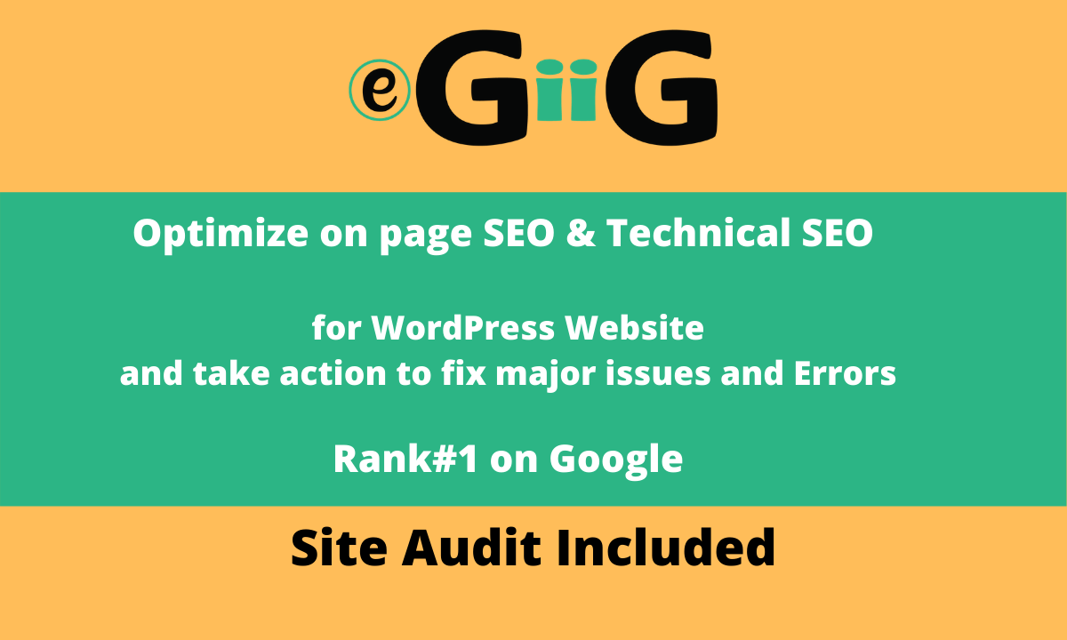 I will provide on page SEO technical onpage optimization of wordpress website
