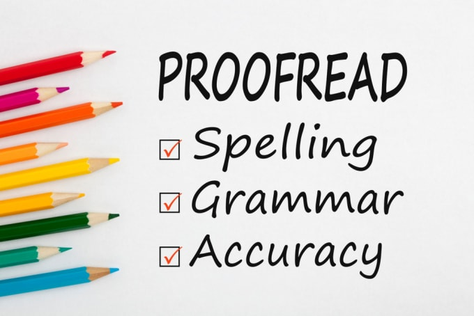 I will proofread and edit 1000 words and make it error free