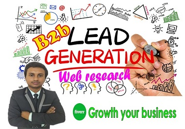 I will perform b2b lead generation and web research