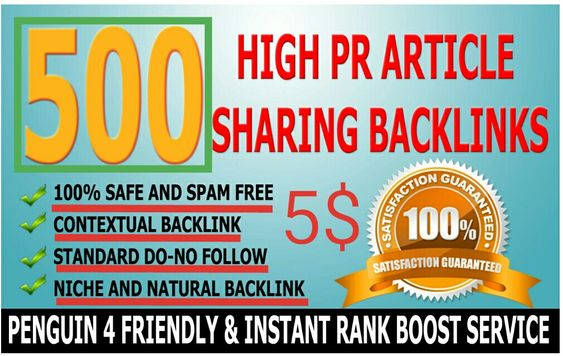 I will do 500 High PR4-PR7 Backlinks