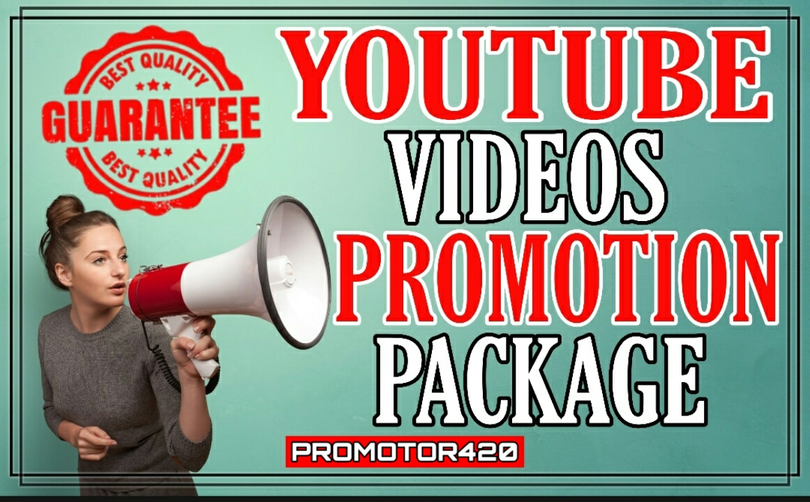High quality youtube videos promotion package
