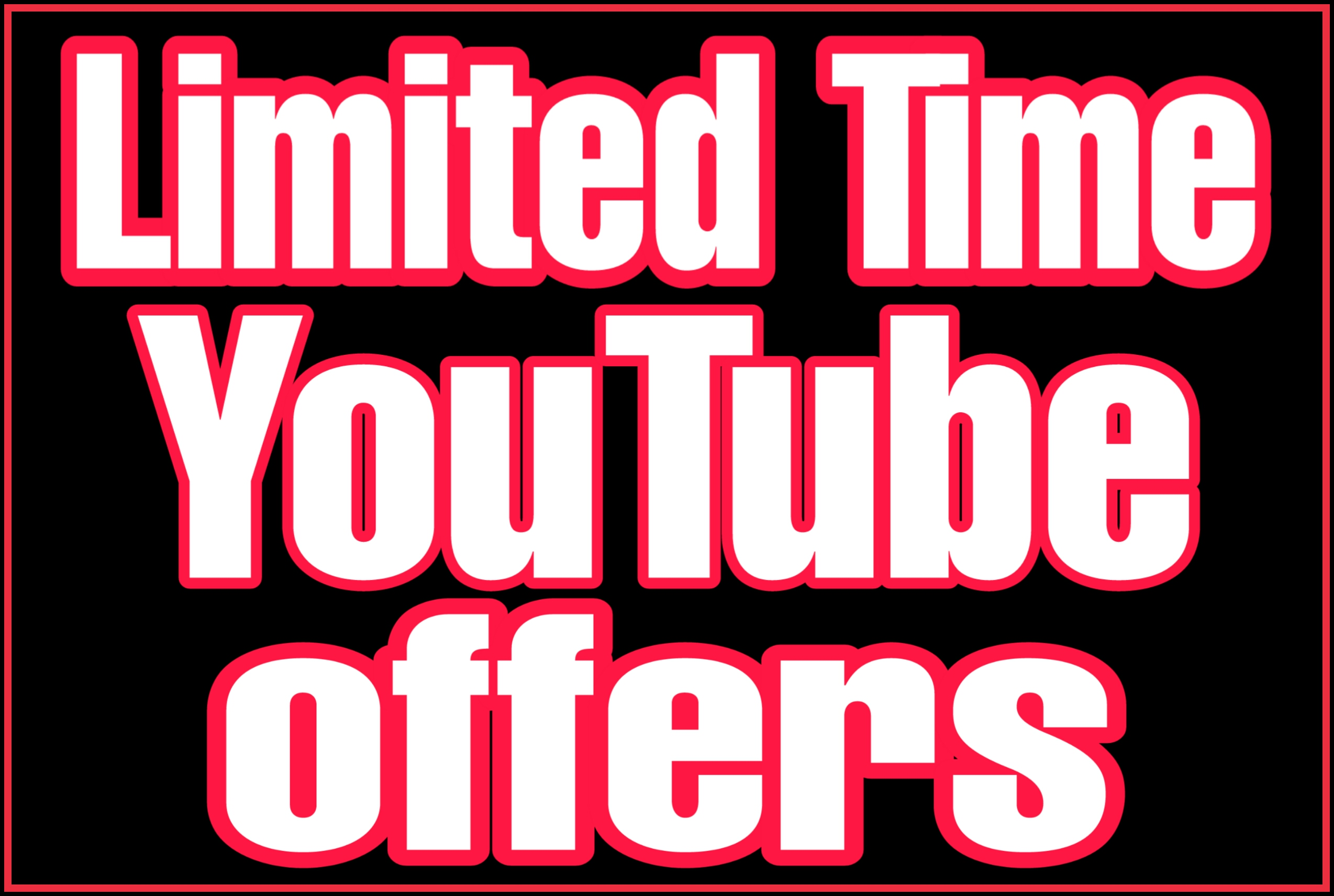 Permanent youtube promotions Organic,  Real & Active