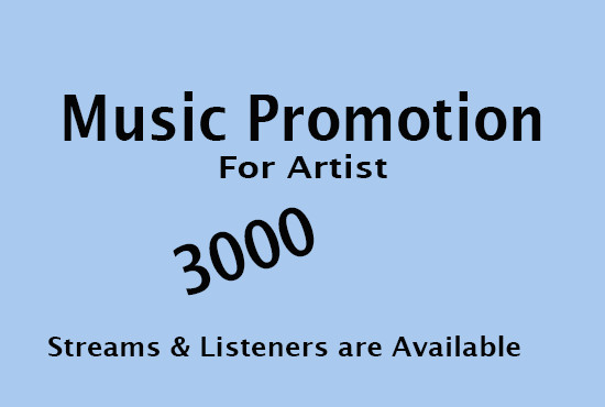 Get monthly listeners and streams for your artist profile