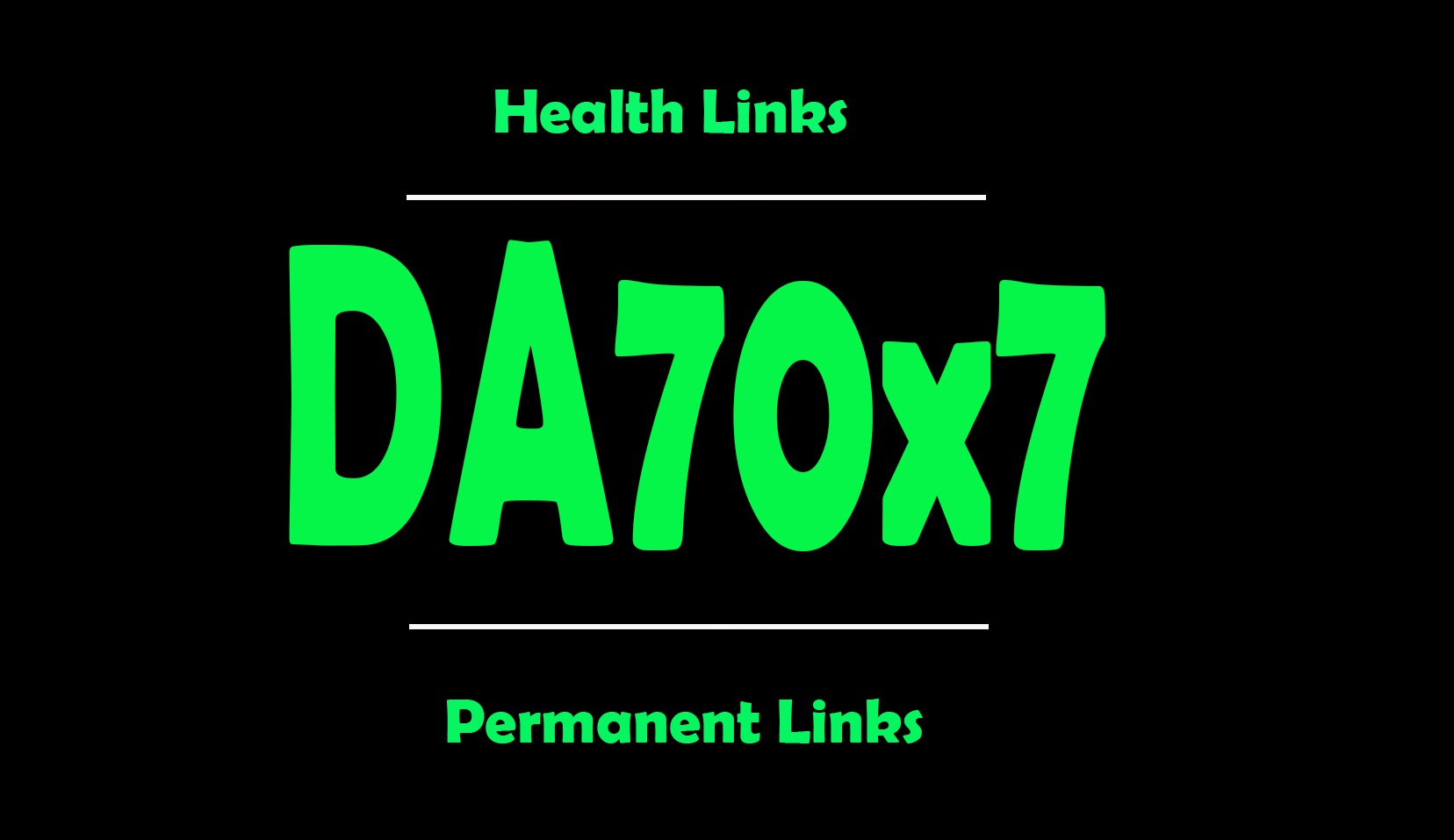 I will give your backlinks on 7 sites Health blogroll permanent