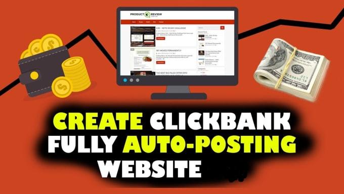I will create a Clickbank Autoblog affiliate website For Passive Income