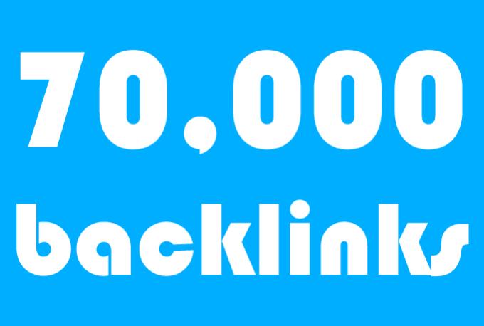 I will 50k 60k 70k backlinks,  best for tier2