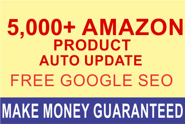I will build amazon affiliate autopilot website with 5000 plus products