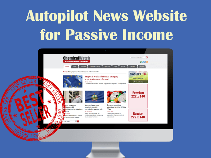 I will create autopilot news website for passive income