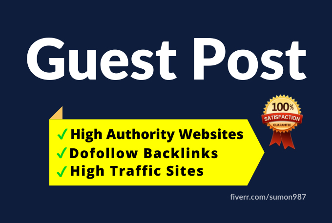 I will publish high quality SEO guest Post with backlinks on high authority site