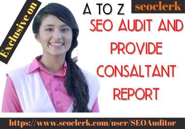 I will provide SEO audit report for any website