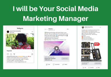I Will Be Your Professional Social Media Marketing Manager For Your Business
