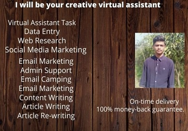 I will be your creative virtual assistant