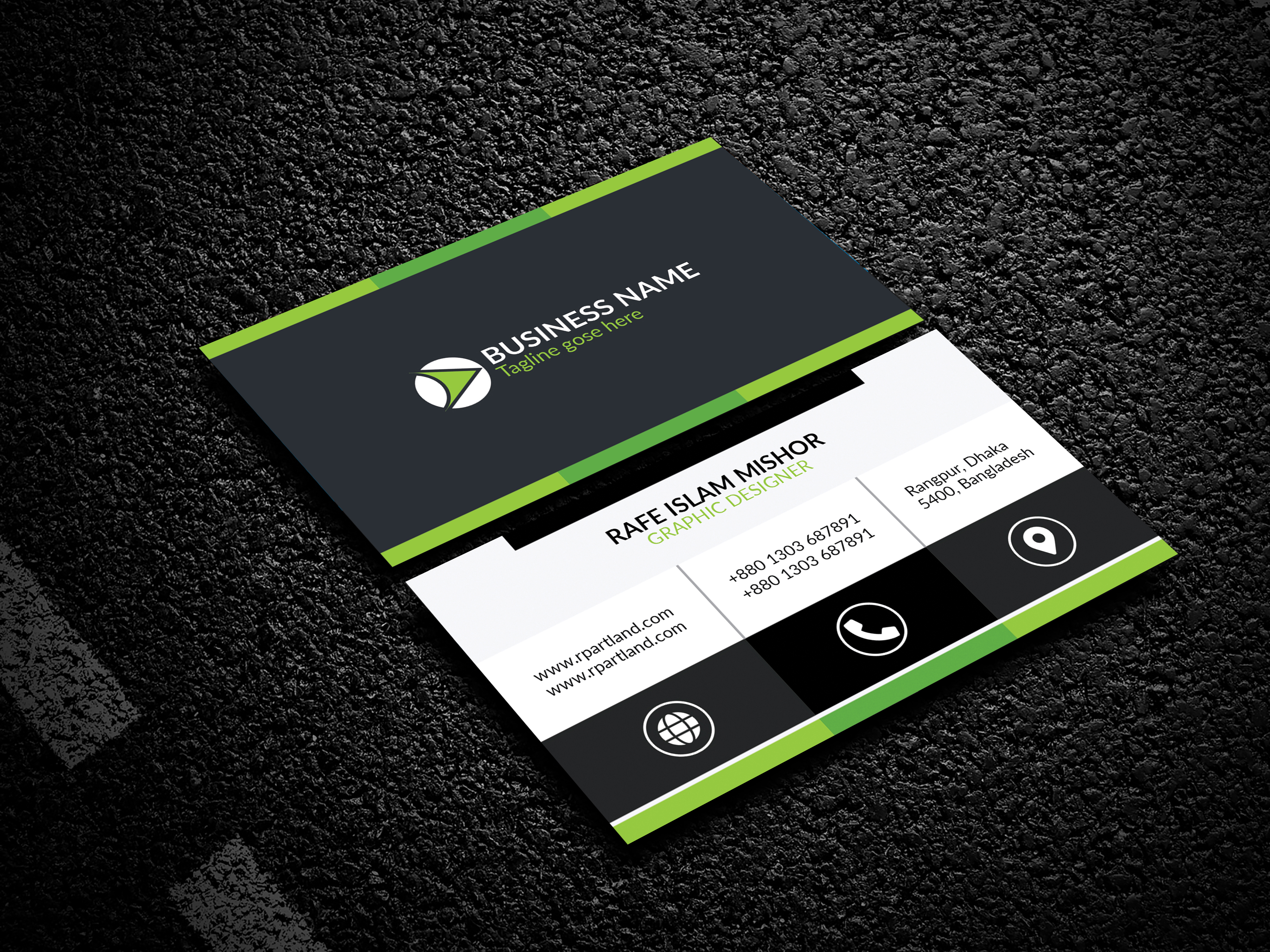 I will professional business card design