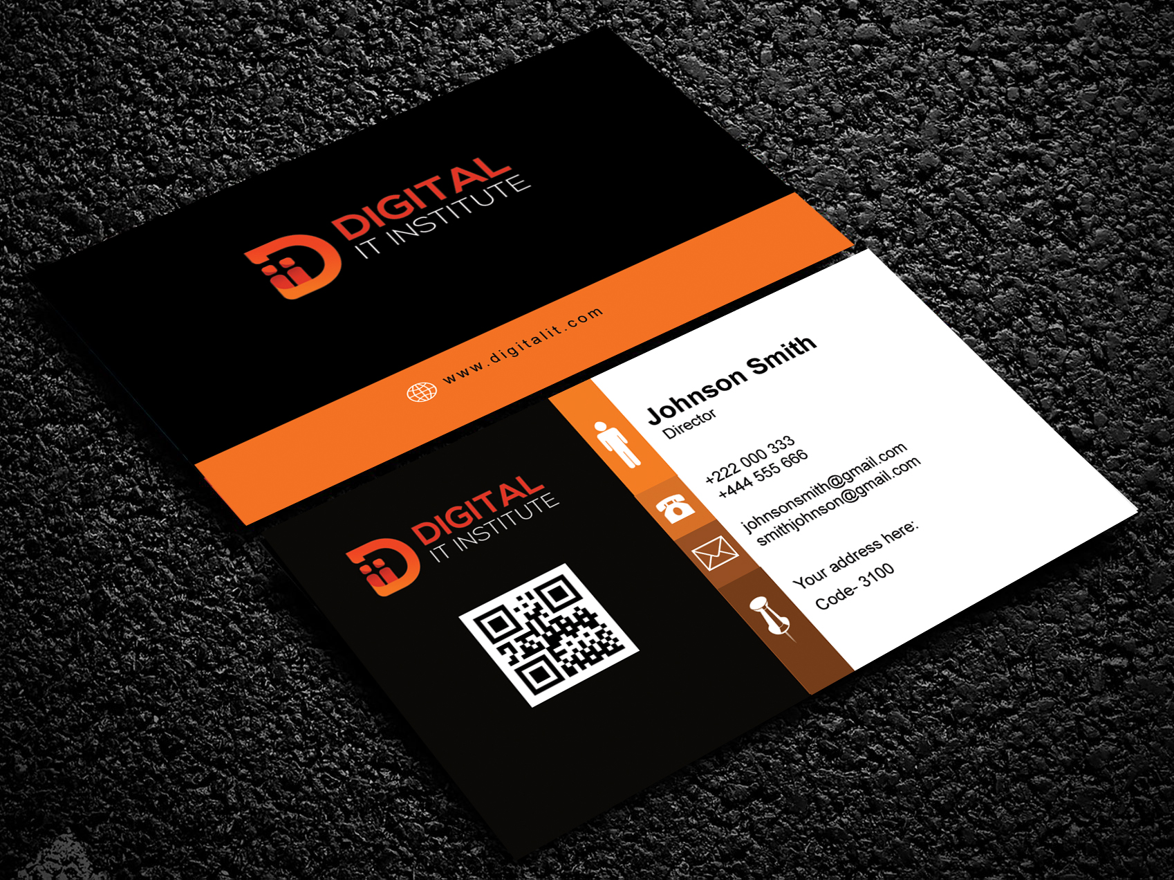 I will do unique design business card
