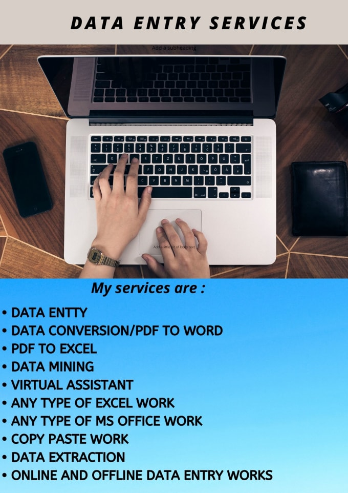 I will do any type of Data Entry / Copy Paste work