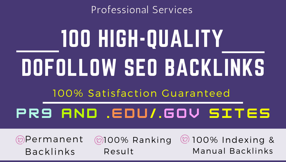 High-quality 100 dofollow SEO backlinks link building google top ranking