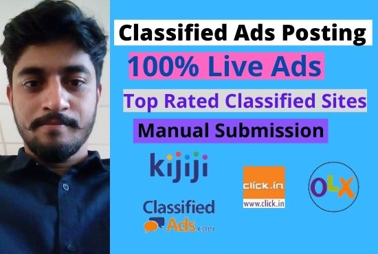 I will do classified ads posting in top rated site world wide.