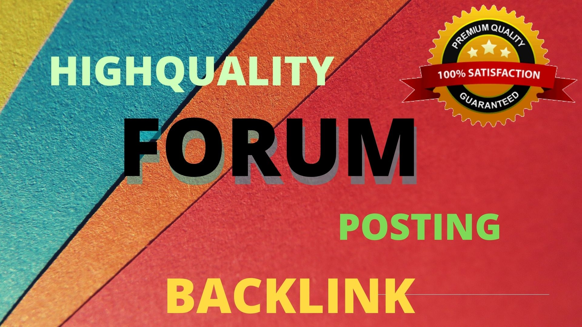 I will submit 15 forum posting.