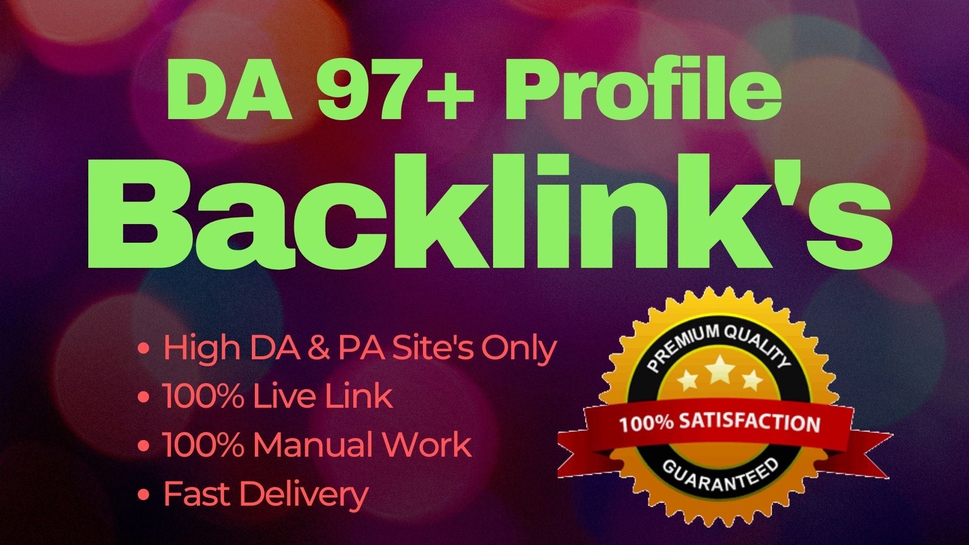 I Will Build 150 High PR5 DA 70+ High Authority for SEO Profile Backlinks