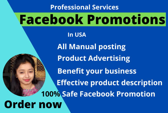 I will promote your business in USA by facebook marketing