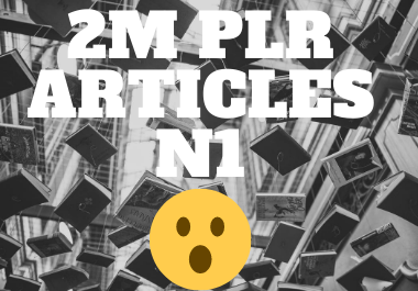 2 million articles from various niches