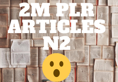 2 million articles from various niches part 2