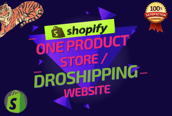 I will create premium shopify one product store,  dropshipping website