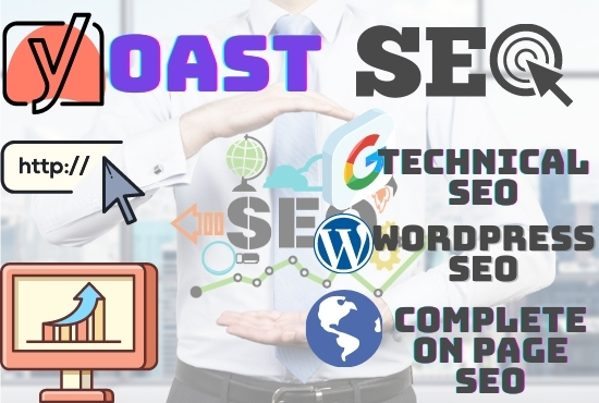 I will do on page SEO,  technical optimization of wordpress website with yoast premium