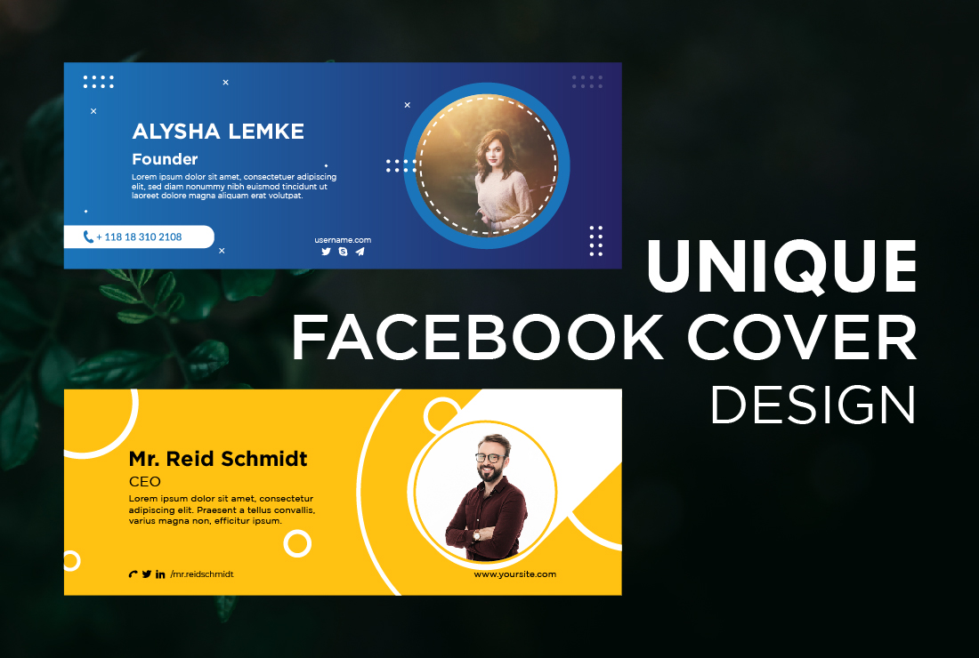 I will create Facebook cover design,  Twitter,  Linkedin,  Youtube banner,  ads header