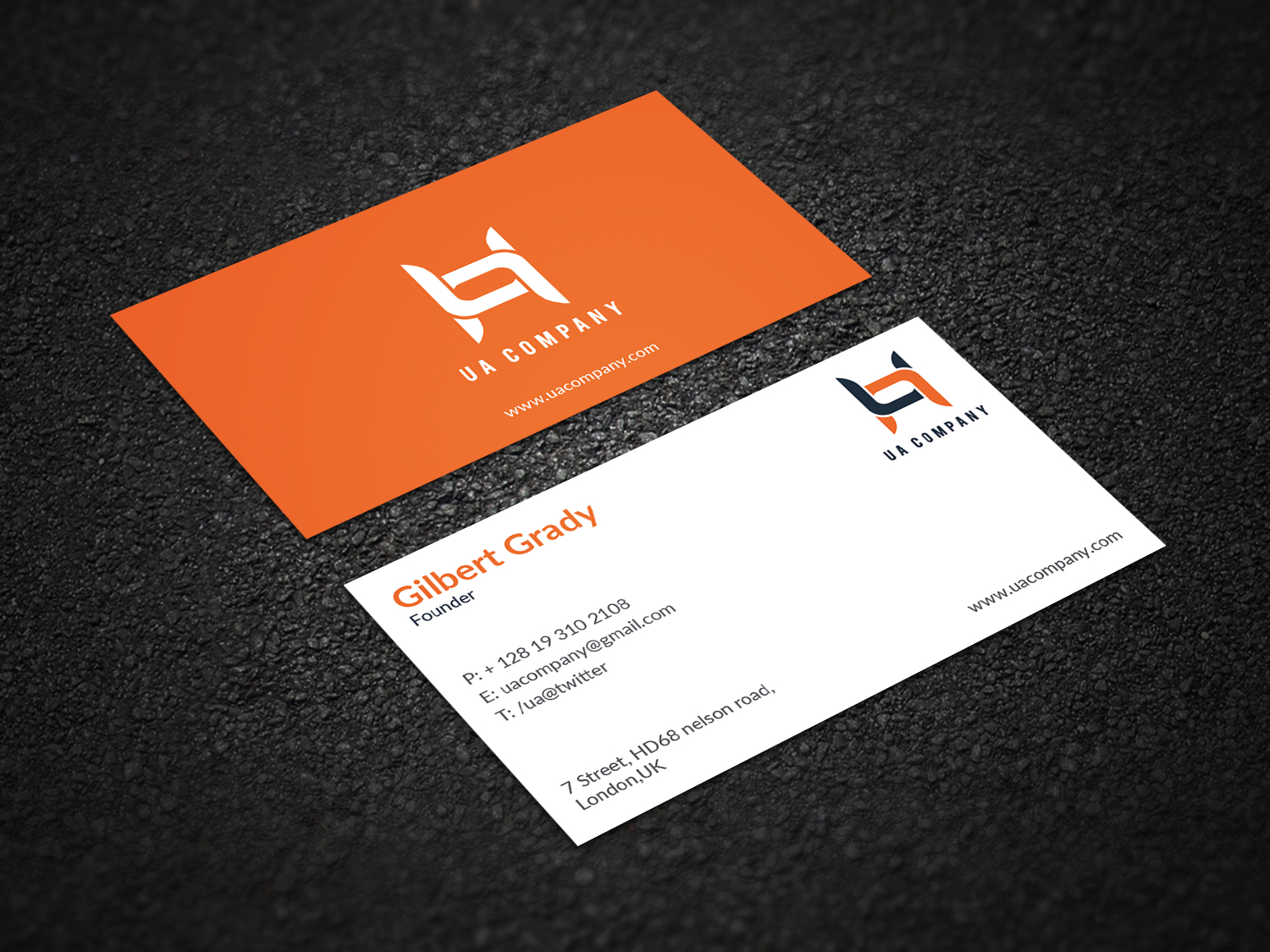 I will do corporate minimalist business card design within 24 hours