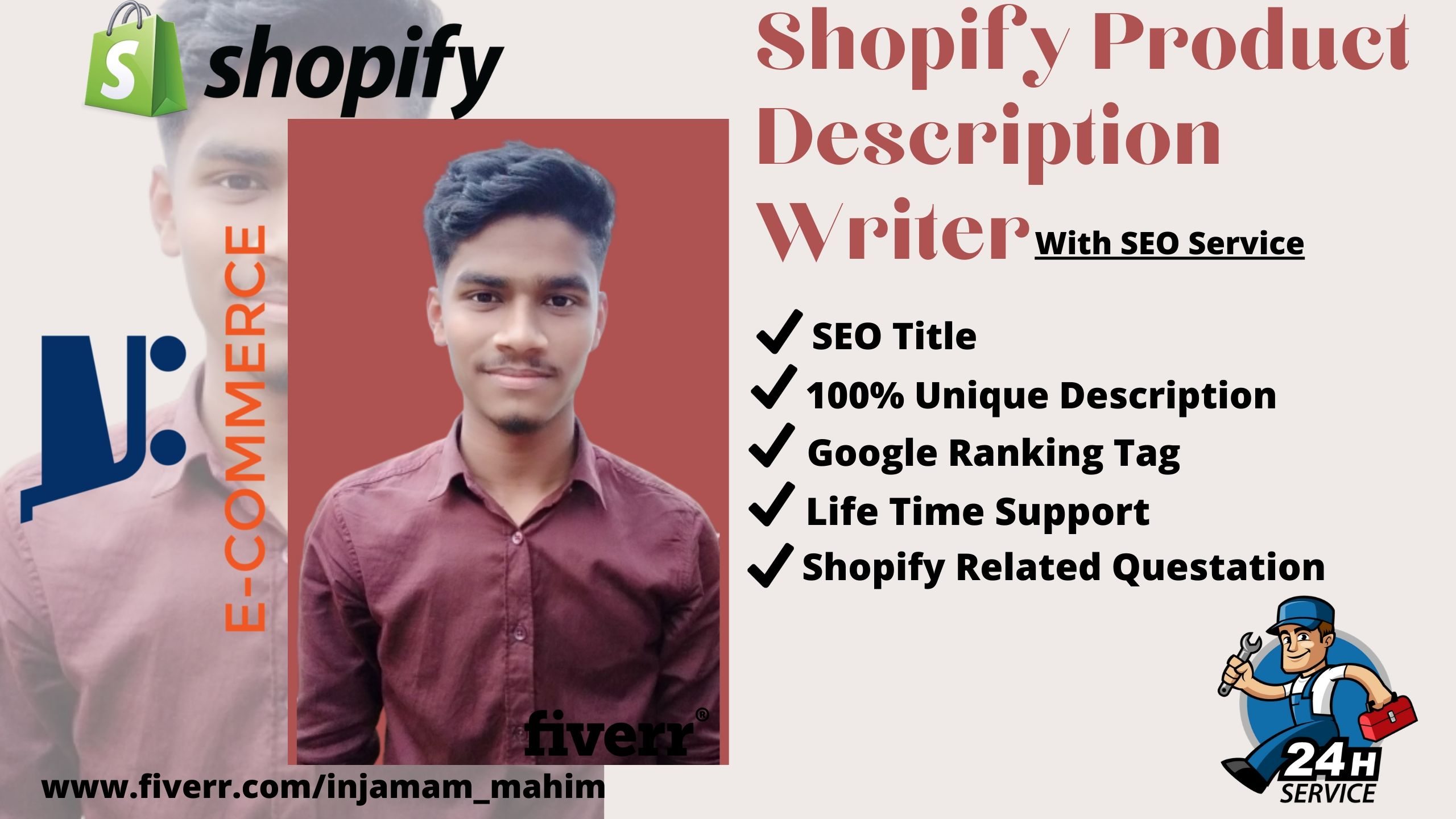 I will write shopify SEO product description for shopify dropshipping 10 product