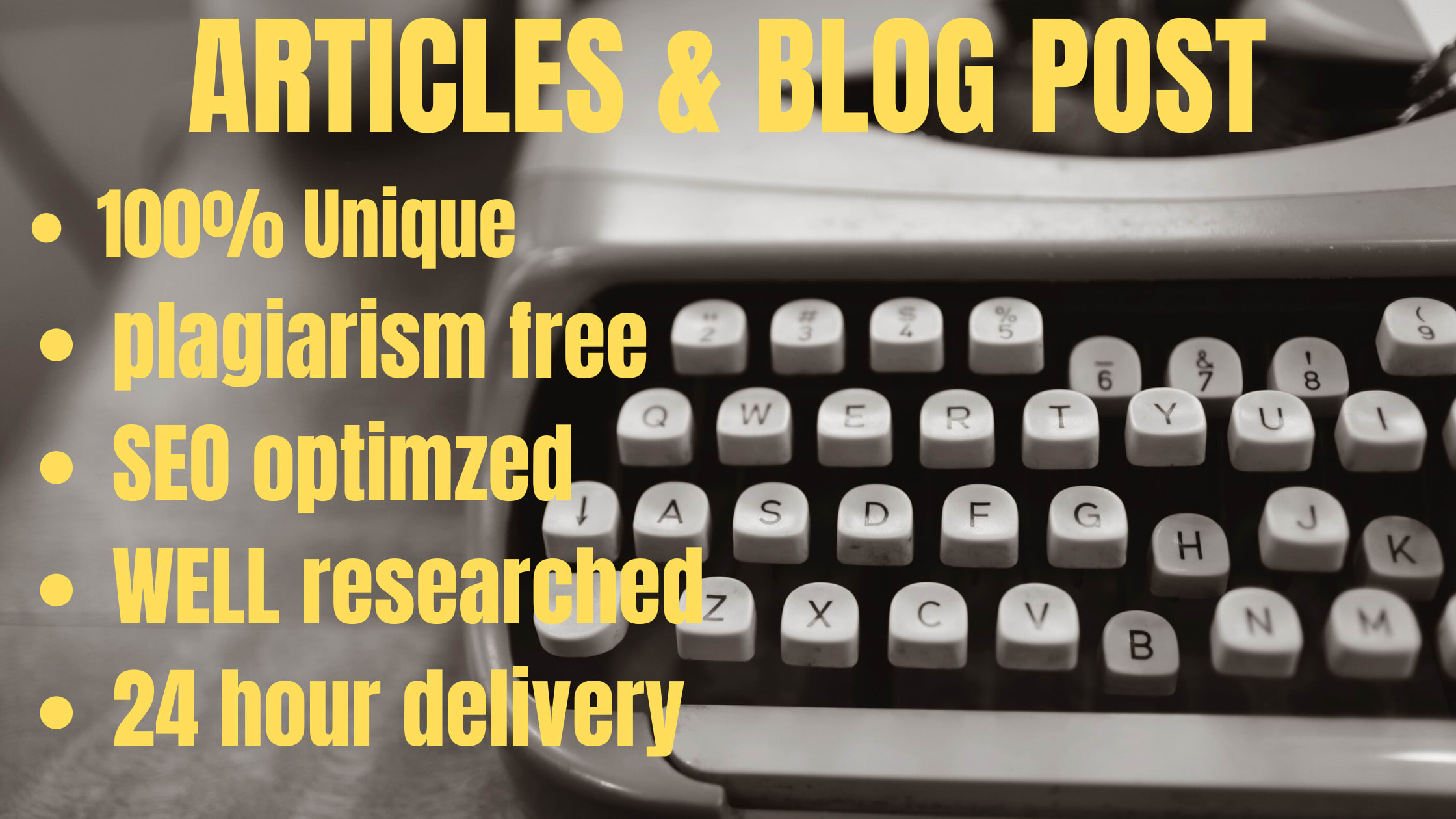 I will write SEO friendly articles,  blog posts and website content