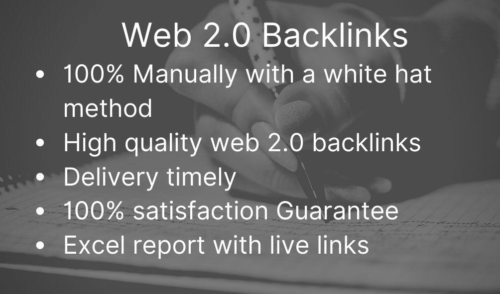 I will do 60 high authority white hat web 2 0 backlinks