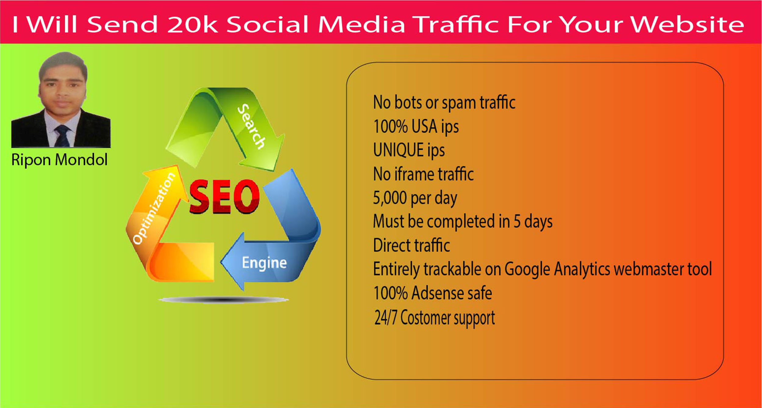 I will provide 20k google organic traffic to website