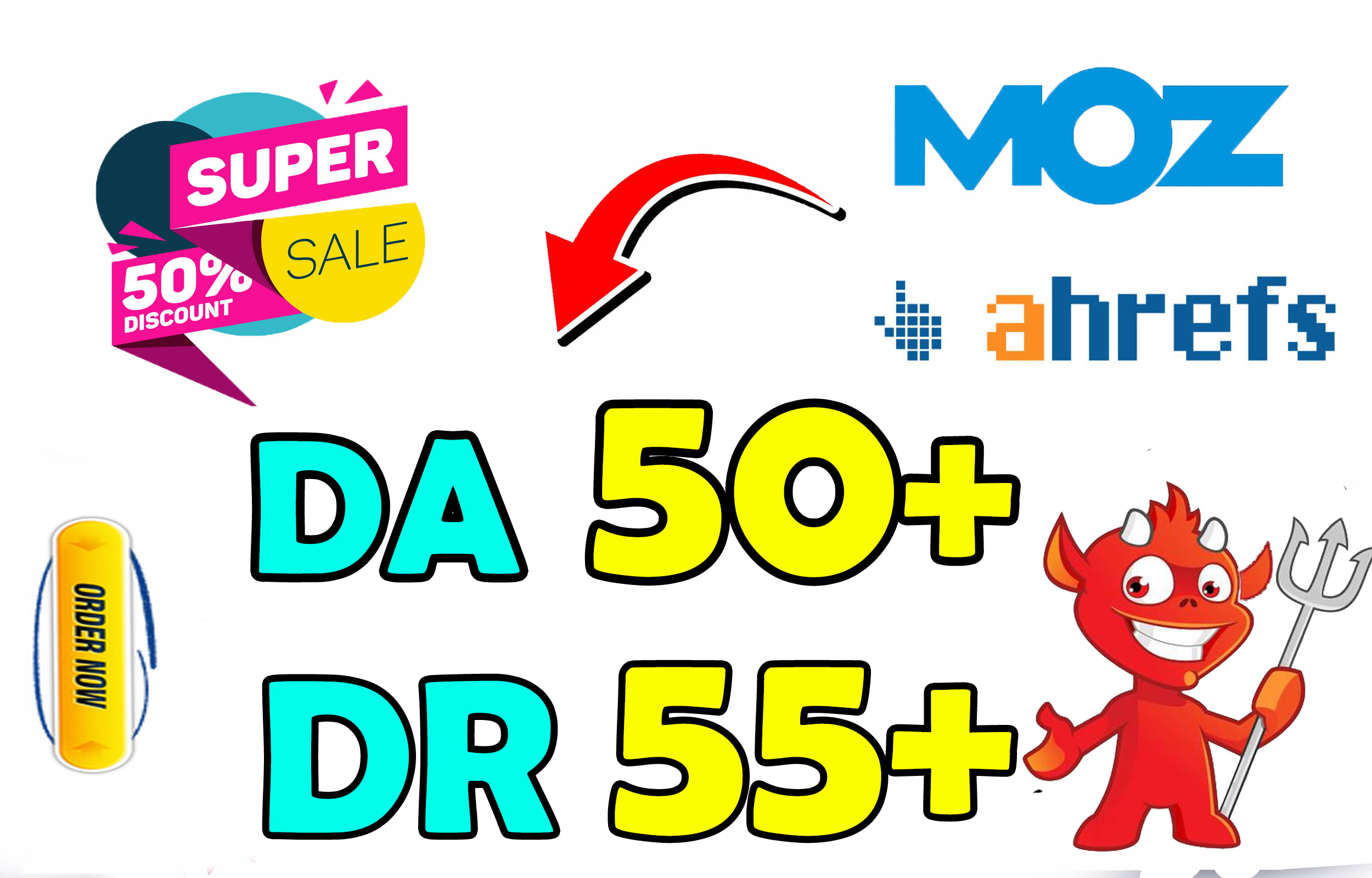 I will increase Moz Domain Authority of Your Site DA 50 in 15 days