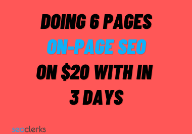 doing wordpress onpage seo 6 pages within 3 days