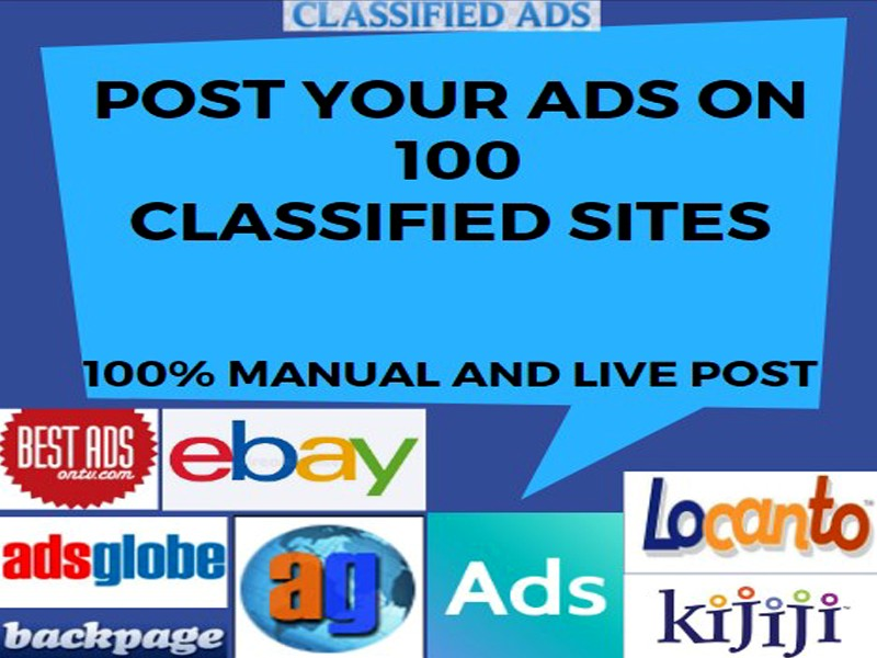 I will post 100 classified ads with live link report