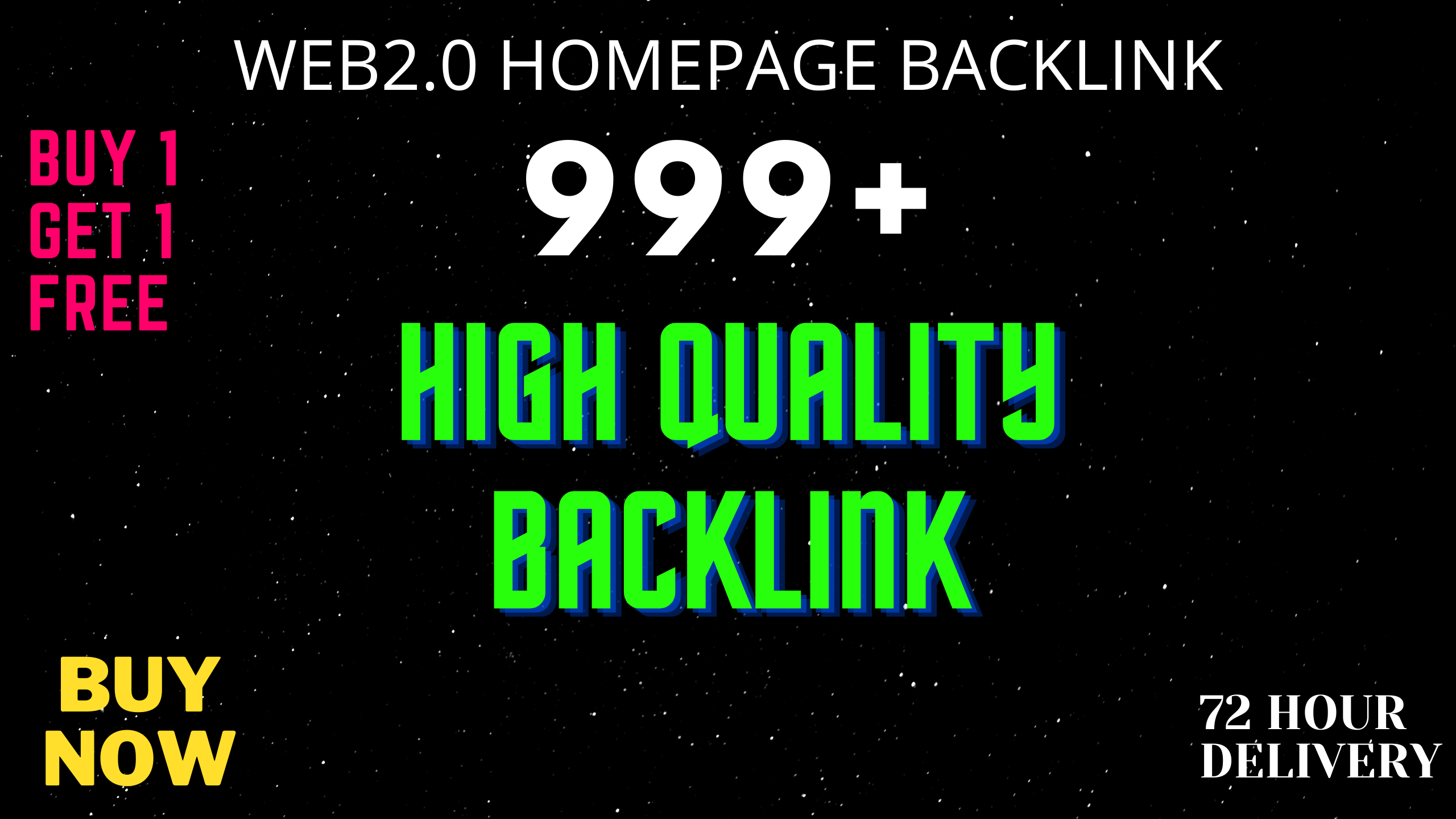I Will Provide DA50+ PA40+ DR50+ 999+Homepage web2.0 Backlink Permanent Dofollow With unique website