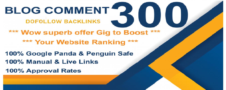 I will do Manually 300 high TF,  CF Dofollow Blog comments backlinks on high DA PA blogs
