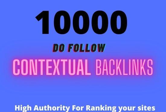 I will create 5000 contextual seo backlinks