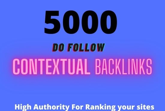 I will create 5000 contextual seo backlinks