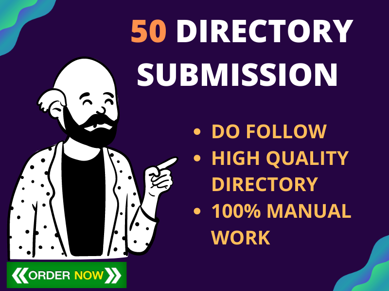 I Will provide 50 Directory Submission Manually