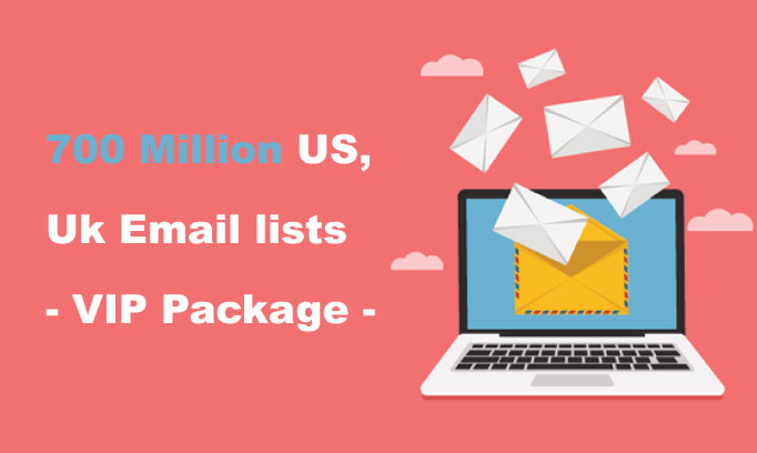 700 million emails addresses and you can resell