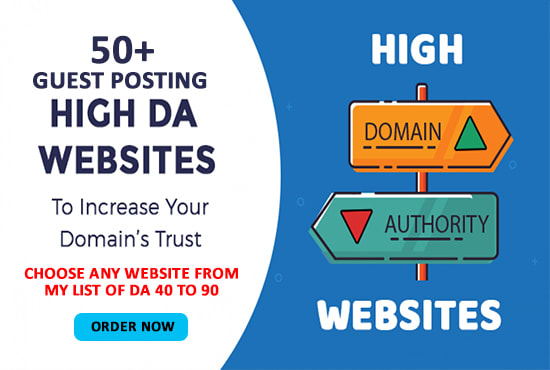 I will guest post on High DA 80 website with backlink