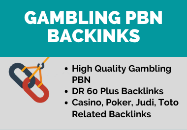10 Casino,  Poker,  Gambling,  Judi,  Toto Related High Authority SEO DR 50 Plus PBN Backlinks
