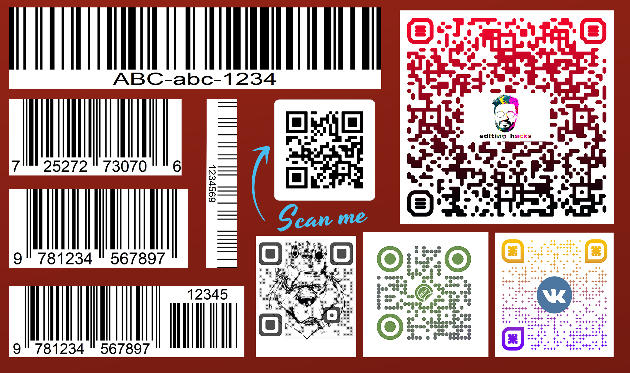 I will create unique professional custom qr code and barcode design within 6hrs