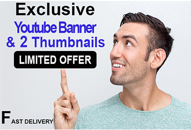 I will design exclusive,  unique and mordern youtube banner with youtube thumbnail.