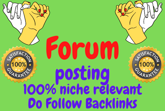 I will provide 15 niche relevant forum posting Backlinks