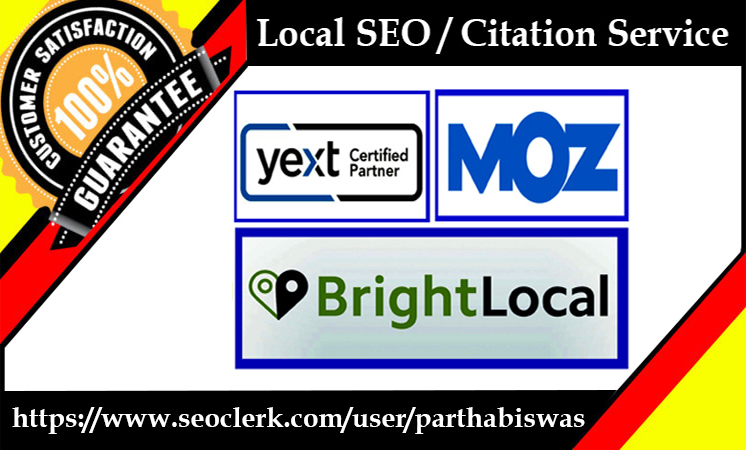 I will do local SEO citation from yext,  moz and brightlocal
