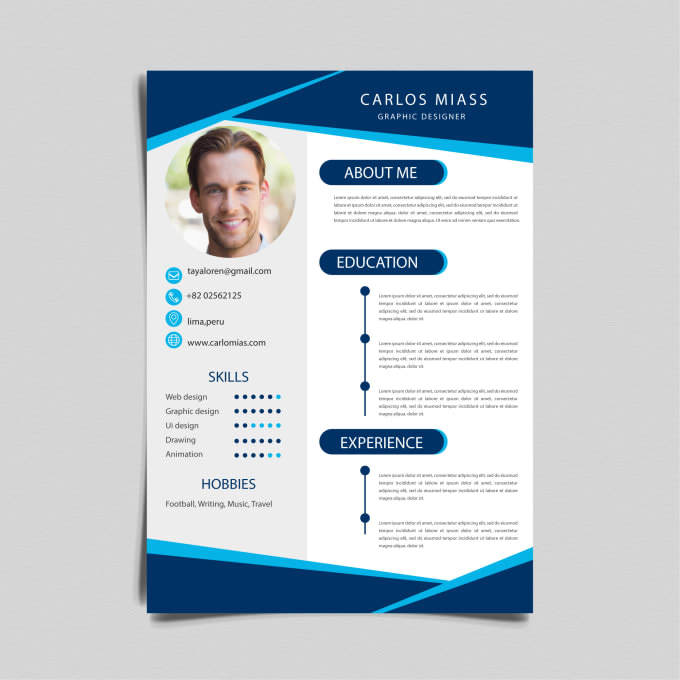 I will design attractive and incredible resume for you within 12 hours